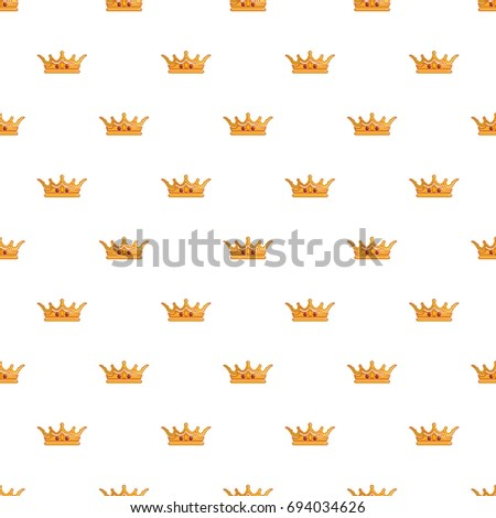 queen crown pattern cartoon style seamless stock vector royalty