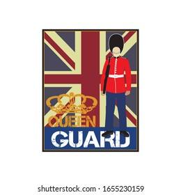 Queen Guard, Royal Guard illustration vector drawing