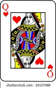 Queen of Hearts Vector Illustration