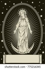 The Queen of Heaven Engraving Art
