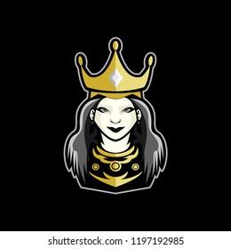 Queen Logo Mascot for gaming, sport, esport , Etc