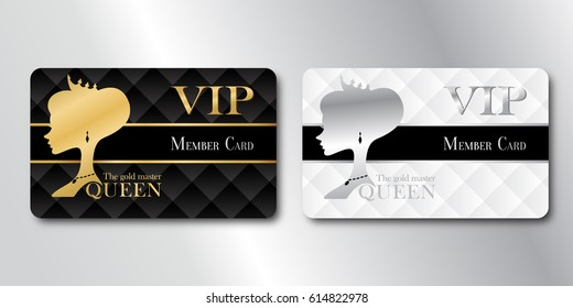 Queen Member Card Gold and Silver / VIP