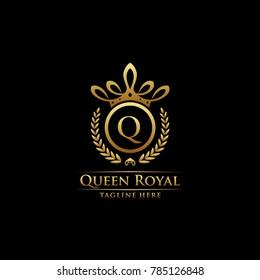 Queen Royal Initial Q Logo.