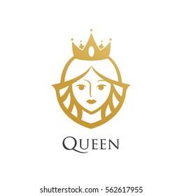 queen wearing crown logo