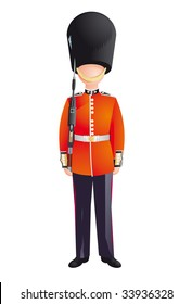 Queen's Guard, British Army soldiers, London, Buckingham Palace