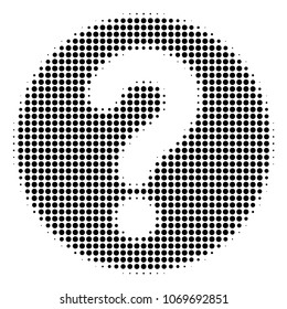 Query halftone vector icon. Illustration style is dotted iconic Query icon symbol on a white background. Halftone pattern is circle points.