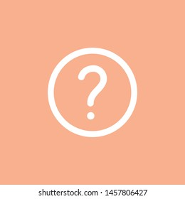 query symbol ask icon faq button isolated