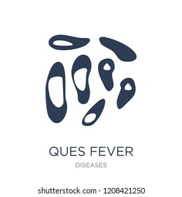 Ques fever icon. Trendy flat vector Ques fever icon on white background from Diseases collection, vector illustration can be use for web and mobile, eps10
