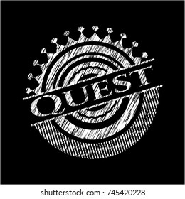 Quest with chalkboard texture