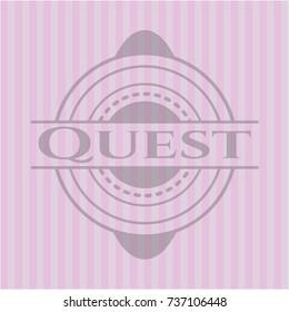 Quest pink emblem