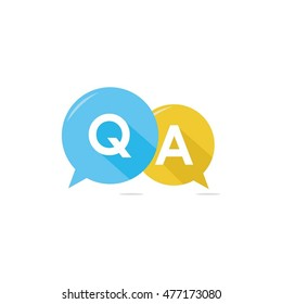Question & Answer Bubble Chat