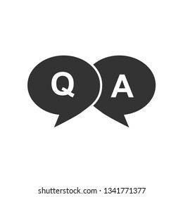 Question And Answer Icon. Communication Illustration As A Simple Vector Sign & Trendy Symbol for Design and Websites, Presentation or Mobile Application.