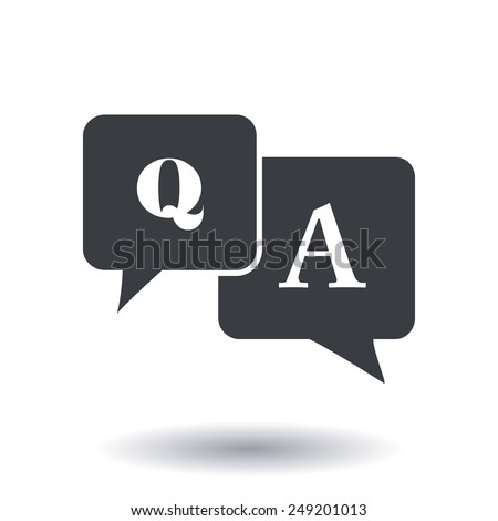 question answer icon qa sign symbol のベクター画像素材