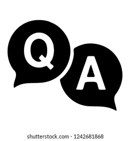 Question answer icon. Q&A symbol.