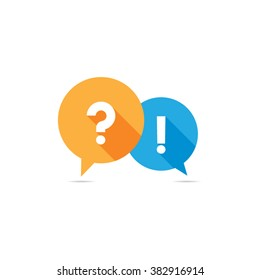 Question and Answer Speech Bubble Symbol