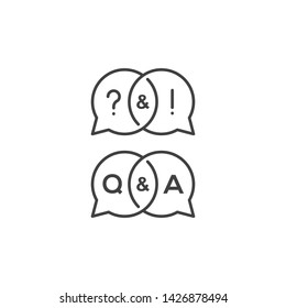Question and answer . Vector icon template