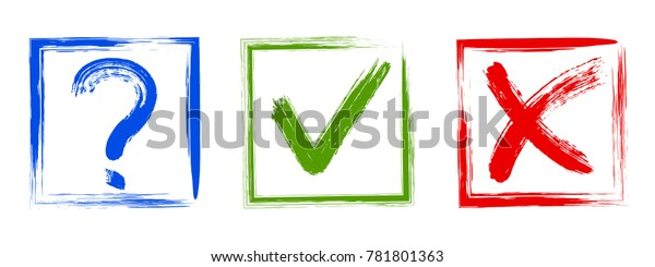 Question Approval Tick Rejection Cross Check Stock Vector (Royalty Free)  781801363