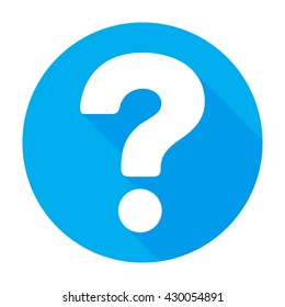 Question icon flat vector illustration query sign/symbol. For mobile user interface