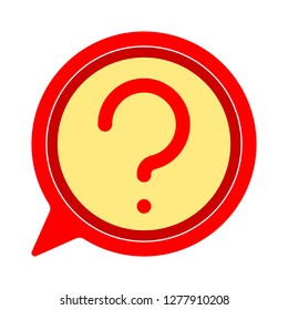 question icon- question isolate, ask bubble illustration- Vector question mark