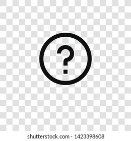 question icon from miscellaneous collection for mobile concept and web apps icon. Transparent outline, thin line question icon for website design and mobile, app development