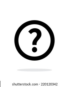 Question icon on white background. Vector illustration.