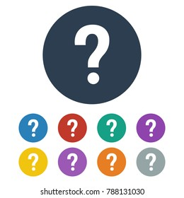 Question Icon on white background. Vector illustration