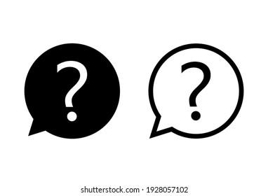 Question icon set. question mark icon vector.