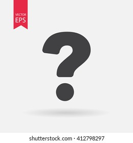 Question icon vector. Faq, answer, thinking, qa, confused, quiz, ask concept. Minimalistic sign isolated on white background. Trendy Flat style for graphic design, Web site, UI, mobile upp, EPS10
