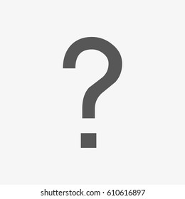 question icon vector illustration. Flat design style