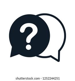 Question icon vector logo template ,bubble speech icon
