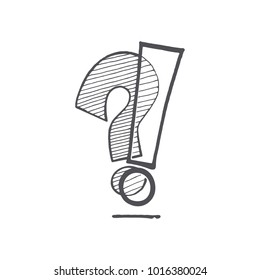 question mark and exclamation point, vector illustration