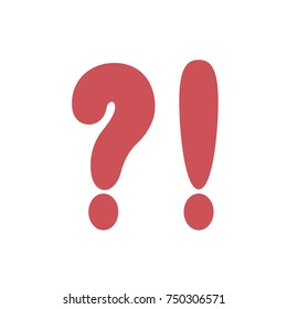 Question mark, exclamation mark. Vector illustration of punctuation marks.