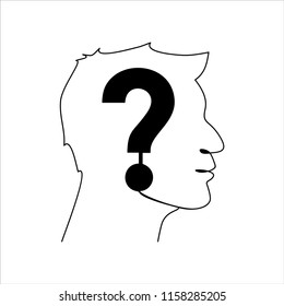 Persona Pensando Dibujo Stock Vectors Images Vector Art