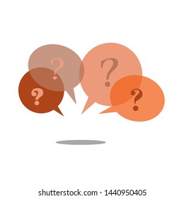 question mark icon, question mark in bubble speech bubble design with shadow illustration, concept for design, sign and symbol, icon vector.