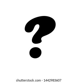 question mark icon flat design