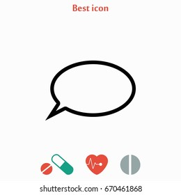 question mark icon, flat design best vector icon