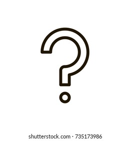 Question mark icon flat icon. Single high quality outline symbol of info for web design or mobile app. Thin line signs of technology for design logo, visit card, etc. Outline logo of help