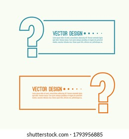 Question mark icon. Help banner. FAQ sign on white background. vector. minimal, outline. Quiz symbol.