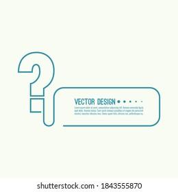 Question mark icon. Help symbol. FAQ sign on white background. vector. minimal, outline. Quiz symbol.