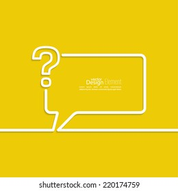 Question mark icon. Help symbol. FAQ sign on a yellow background. vector.