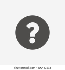 Question mark icon. Help symbol. FAQ flat sign on white background.