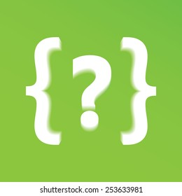 Question mark icon. Modern background