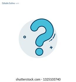 Question mark, Question icon, Quiz symbol, Assessment template, Problem, Confusion, Editable stroke