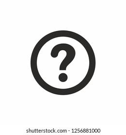 Question mark icon. Vector