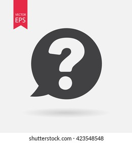 Question mark icon vector. Frequently asked questions, FAQ, Support sign Isolated on white background. Trendy Flat style for graphic design, logo, Web site, social media, UI, mobile app, EPS10