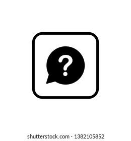 Question mark icon vector, Question mark sign vector
