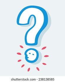 Question mark illustration.