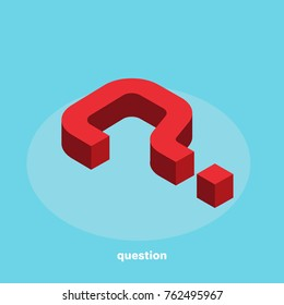 question mark in isometric style