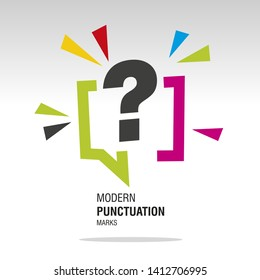 Question mark modern colorful punctuation sign icon sticker