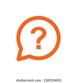 question mark outline vector